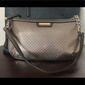 Calvin Klein decal bronze purse